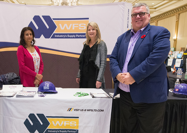 Rick Thurston of WFS Ltd with his exhibitor booth at Build a Dream Windsor.