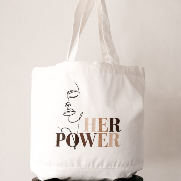 Build a Dream #HerPower Canvas Tote