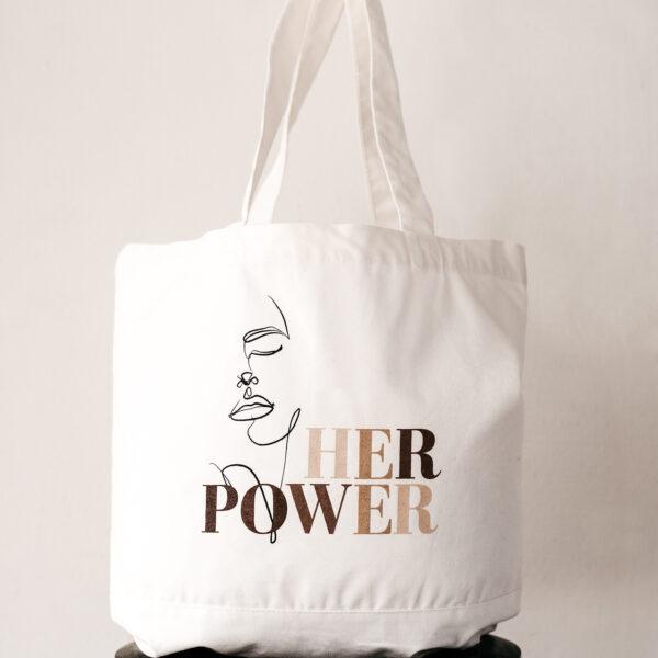 Build a Dream #HerPower Canvas Tote