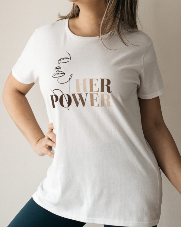 Build a Dream's #HerPower Tee Shirt in White