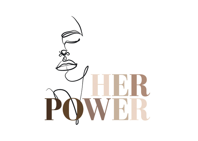 Build a Dream Her Power campaign graphic with face outline