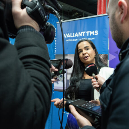 Build A Dream President, Nour Hachem-Fawaz speaks to reporters at a funding announcement in Valiant TMS.